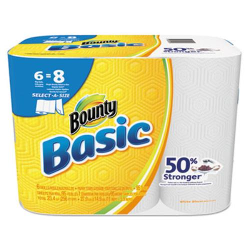 Procter & Gamble 92981CT Basic Select-a-size Paper Towels, 5 9/10 X 11, 1-ply, 95/roll, 6 Roll/pack