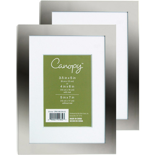 Canopy 5x7 Frame, Set of 2 - Chrome Finish