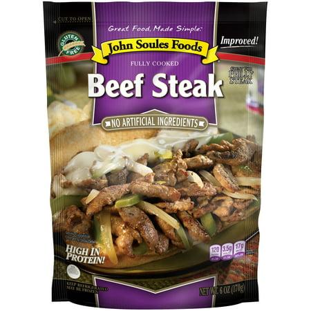 John Soules Foods Beef Steak, 6oz