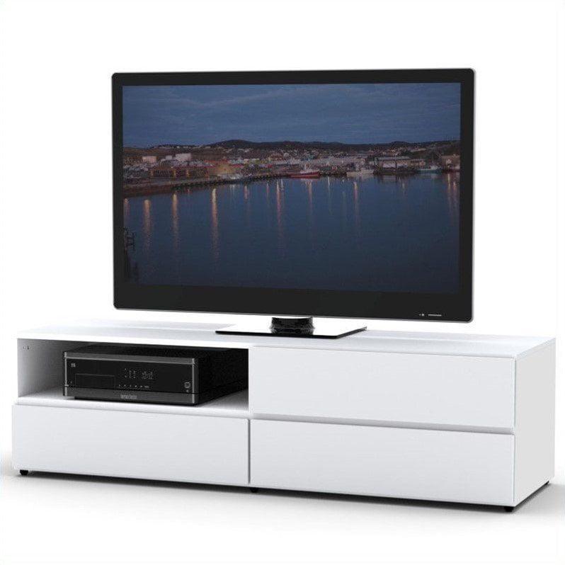 """Nexera BLVD TV Stand for TVs up to 60"""", White"""