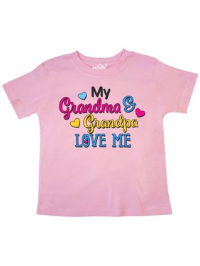 123bfd0be1 Product Image My Grandma and Grandpa Love me with Hearts Toddler T-Shirt