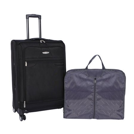American Airlines 2 Piece Luggage Set  28   Black