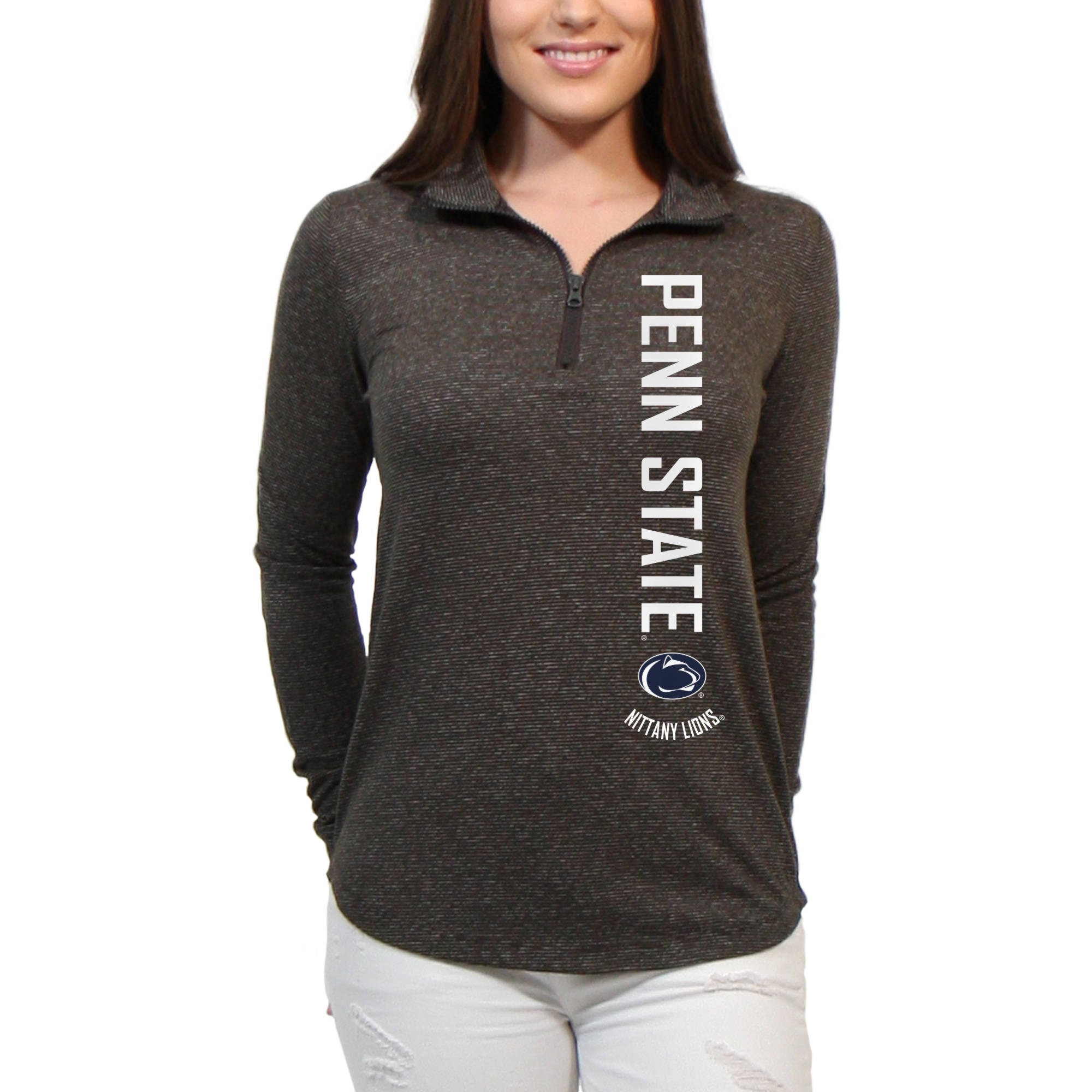 Penn State Nittany Lions Cascade Text Women's/Juniors Team Long Sleeve Half Zip Shirt