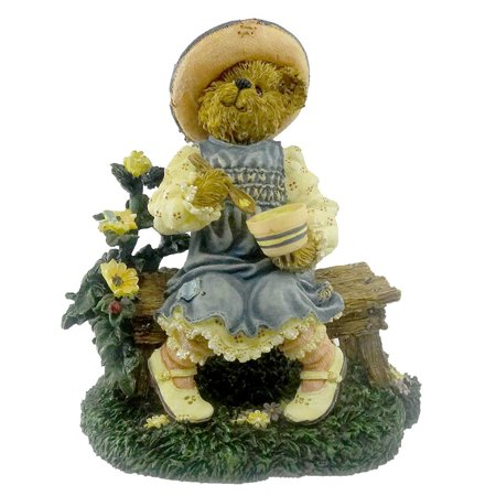 Lil' Miss Muffet What's In The Bowl Fairy Tale Bearstone - Resin 4.00 IN, Product Number: 2455 By BOYDS BEARS RESIN