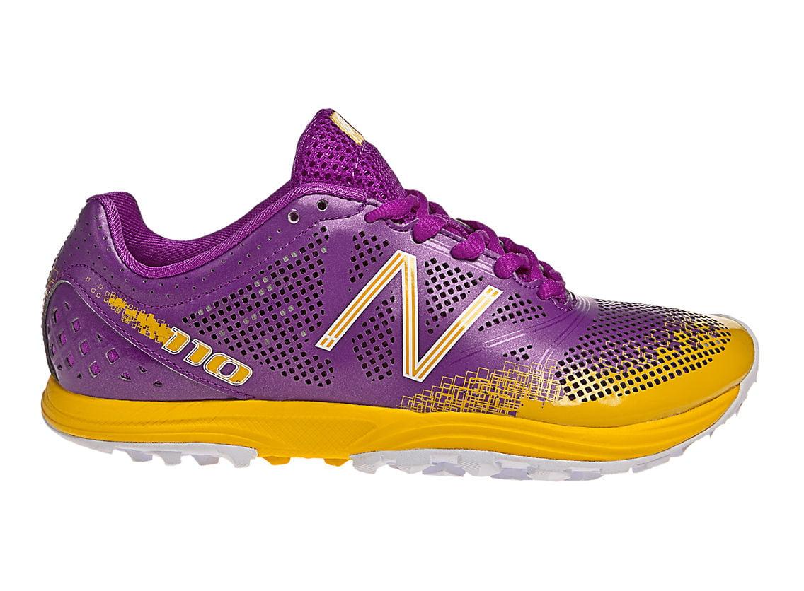 New Balance Women's WT110 B NBx Trail Shoe, Purple/Yellow, 7.5 B WT110 US 163113