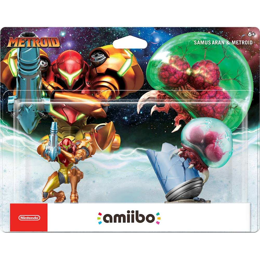 Nintendo Samus Aran and Metroid Amiibo Figure 2-Pack (Metroid Series) by Nintendo