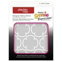 Playtex Diaper Genie Expressions Grey Clovers Fabric Sleeve