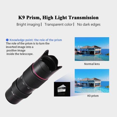 ORDRO TX-13 12X Ultra HD, téléobjectif monoculaire, téléobjectif, objectif K9, enduit FMC Prism pour Smartphone, compatible avec ORDRO HDR-AZ50, HDR-AC3, HDV-D395, appareil photo DV / à utiliser sépar - image 2 de 7