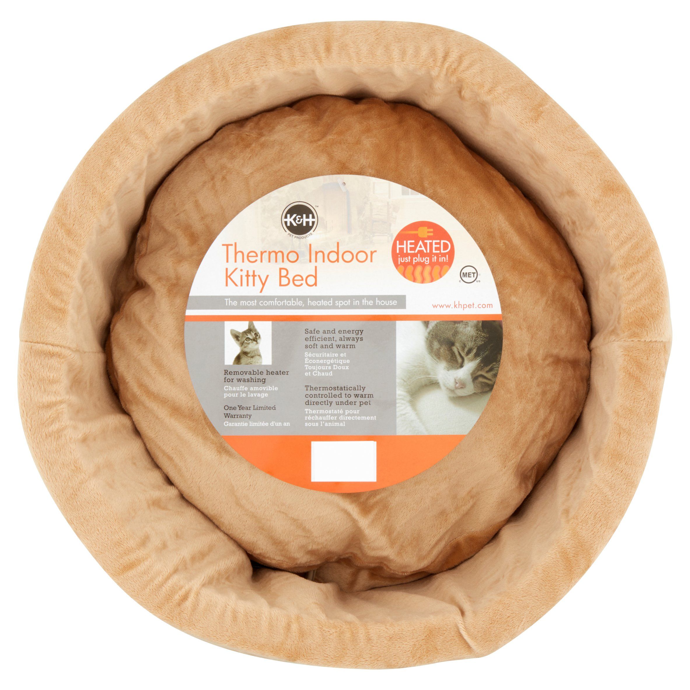 K&H Pet Products Thermo-Kitty Cat Bed, Small Sage