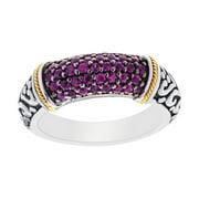 Phillip Gavriel 18k Gold & Sterling Silver Ruby Signet Ring, Size 8