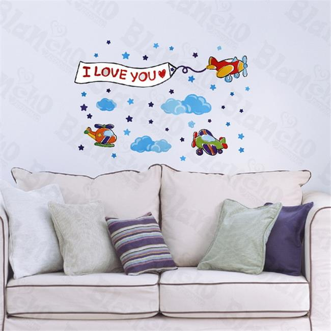 Little Helicopter - Hemu Wall Decals Stickers Appliques Home Decor