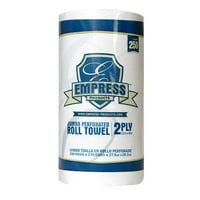 Empress Kitchen 2-Ply Paper Towel Rolls, White, 12 Rolls (E212250)