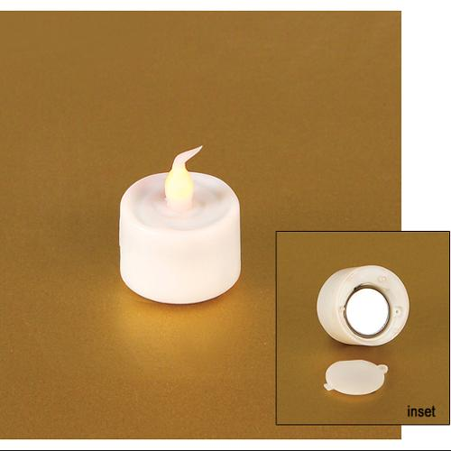 """Pack of 12 White Battery Operated Flameless LED Flickering Tea Light Candles 1"""""""