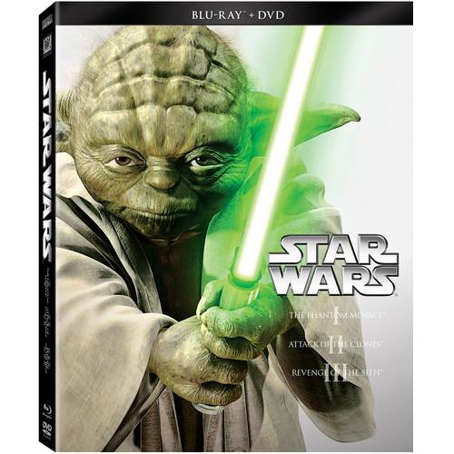Star Wars Prequel Trilogy: The Phantom Menace / Attack Of The Clones / Revenge Of The Sith (Blu-ray   DVD) (Widescreen)