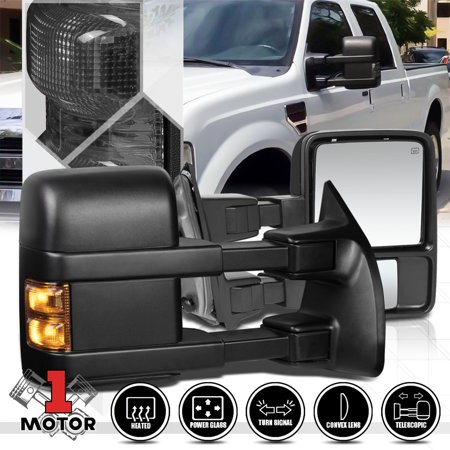 Super Duty Towing Mirror Truck - [Pair] Power+Heated LED Signal Towing Side Mirror for 99-07 Ford F250 Super Duty 00 01 02 03 04 05 06