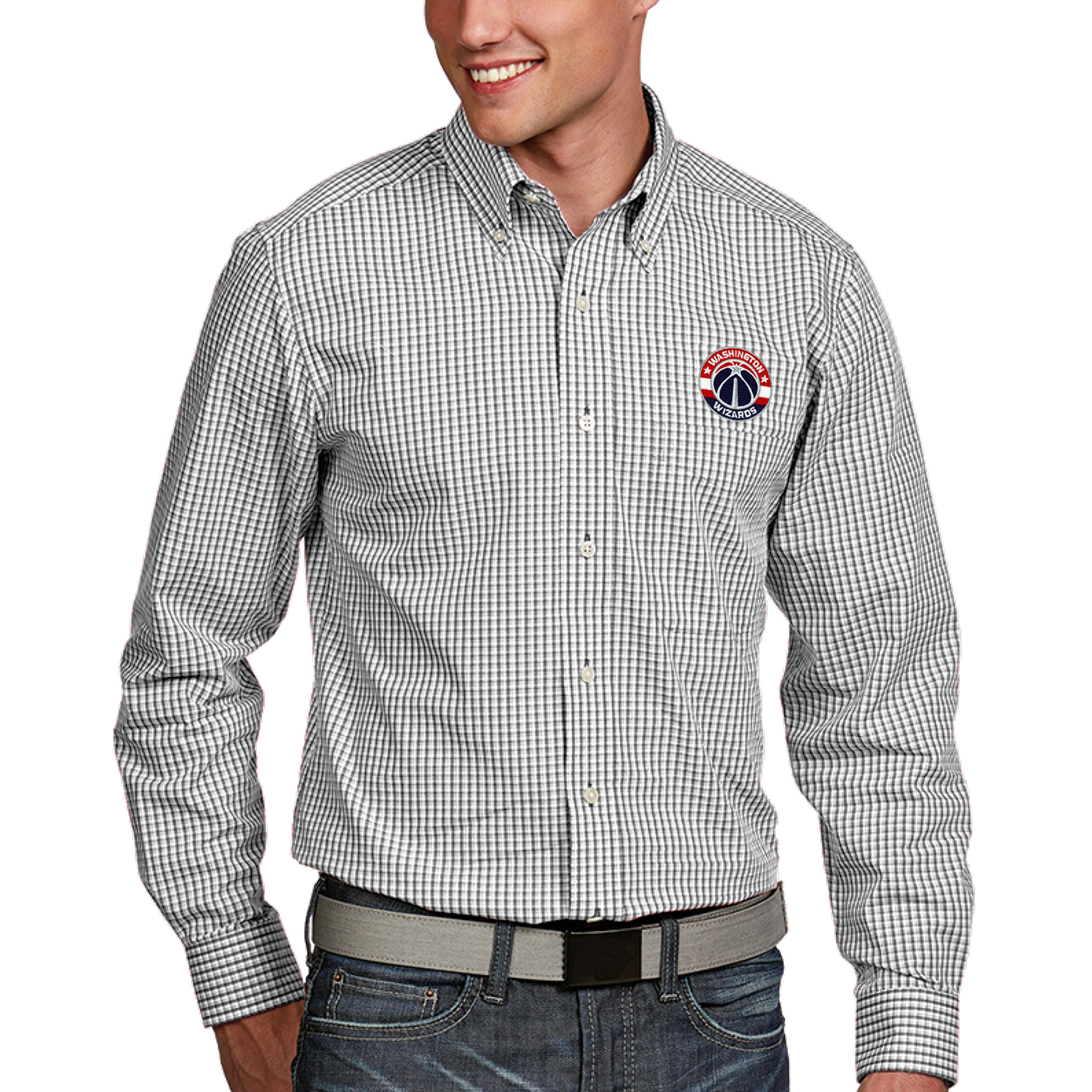 Washington Wizards Antigua Associate Button-Down Long Sleeve Shirt - White