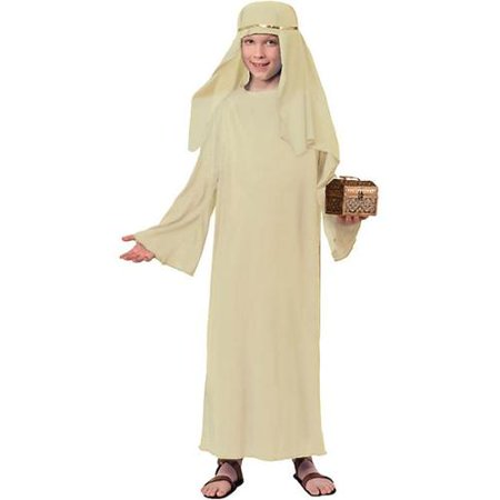 Ivory Biblical Robe with Headdress Costume for Kids - Pageant Robes