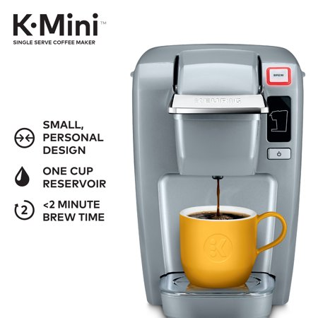 Keurig® K-Mini Coffee Maker Single-Serve K-Cup Pod K15 Brewer, Platinum