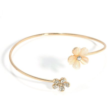 Brand New Cute Fashion Golden Open Bracelet Small Daisy Set drill Crystal Plated Lady - image 1 of 5