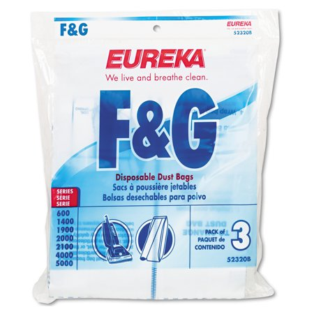 6 Disposable Dust Bags - Electrolux Sanitaire Style F & G Disposable Dust Bags for Upright Vacuums, 3/PK, 6 PK/CT
