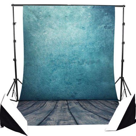 GreenDecor Polyster 7x5ft Retro Background Wood Floor Pure Color Photo Studio Photography Backdrop Background Studio Prop Best For Studio,Club, Event or Home (Americas Best Event Photography)
