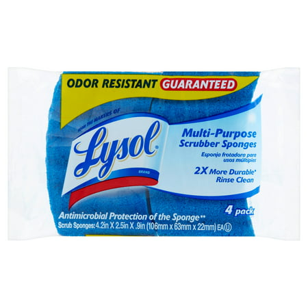 Lysol Multi-Purpose Scrubber Sponges, 4 Count