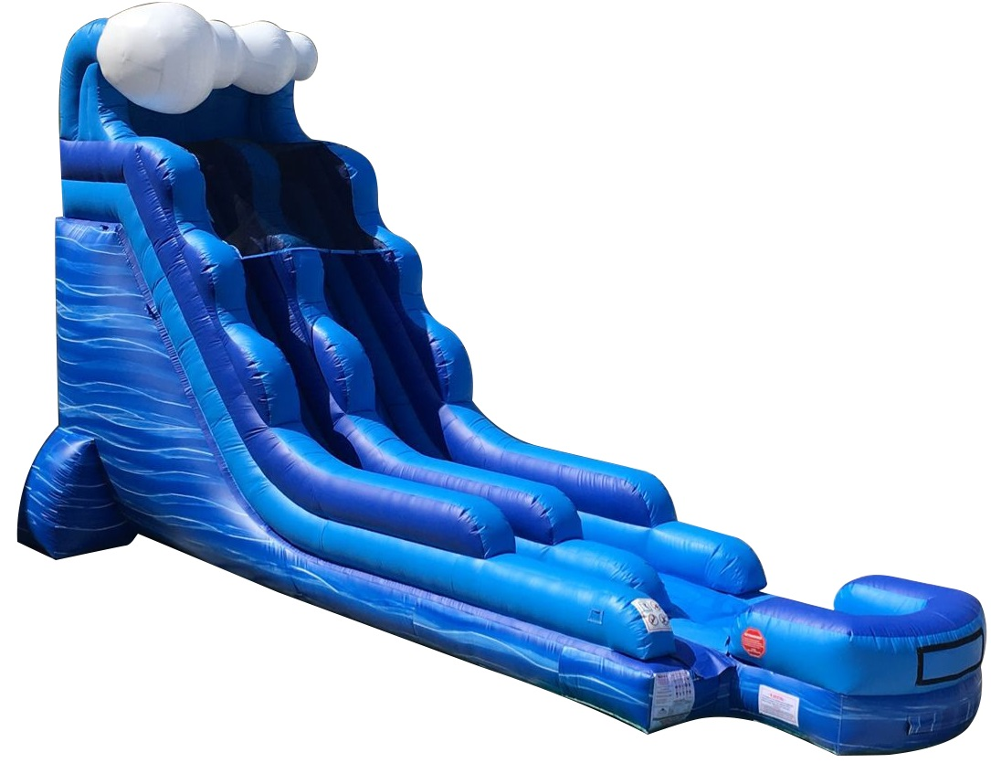 Pogo 18' Tidal Wave Marble Commercial Inflatable Waterslide with Blower Kids Bouncy Jumper by Pogo Bounce House