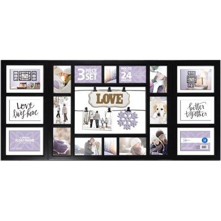 Mainstays 3 Piece Frame Set 24 Opening Black Love Walmartcom