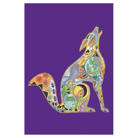 Toland Home Garden Animal Spirits - Howling Wolf Flag