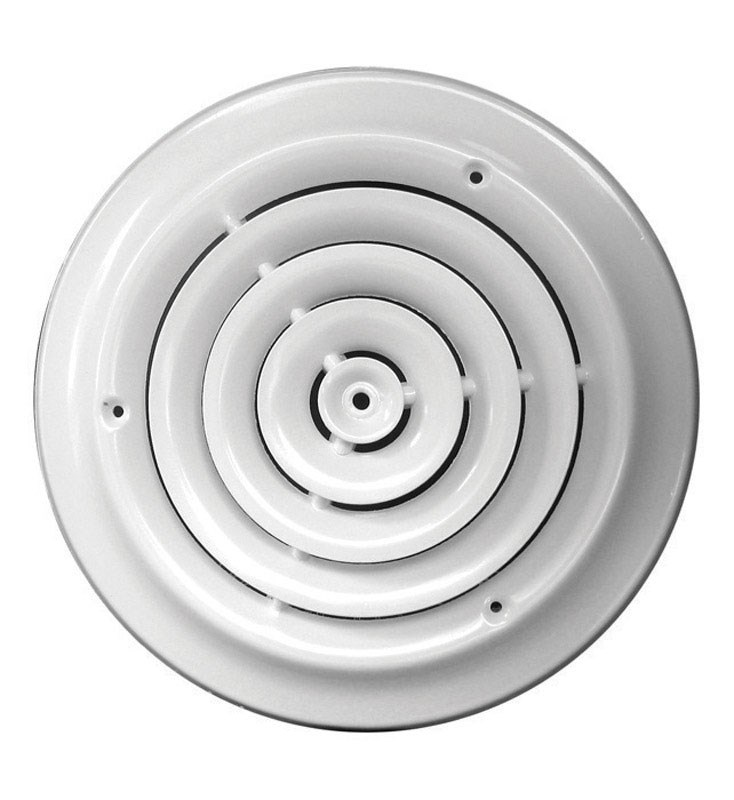 True Aire Round Ceiling Diffuser White Powder Coated Heavy Steel Construction