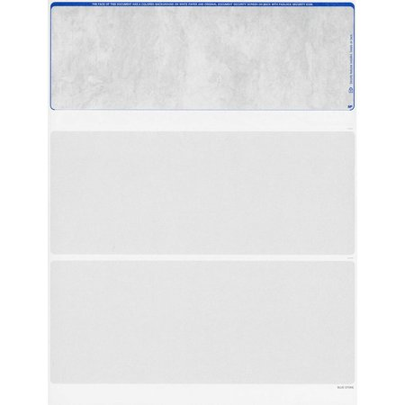 Blank Checks Stock - Color Stone Blue -Checks on Top - QTY