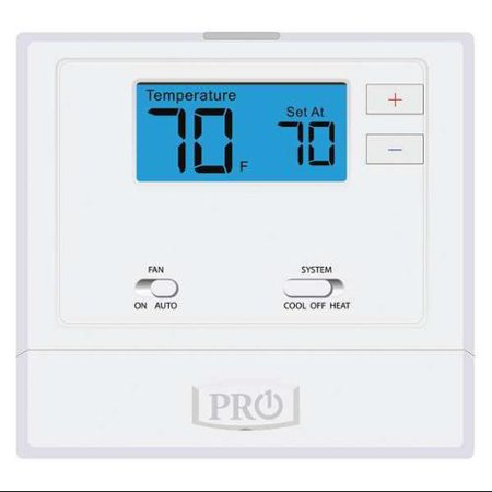 - PRO1 IAQ Thermostat, Stages 1 Heat/1 Cool, T601-2