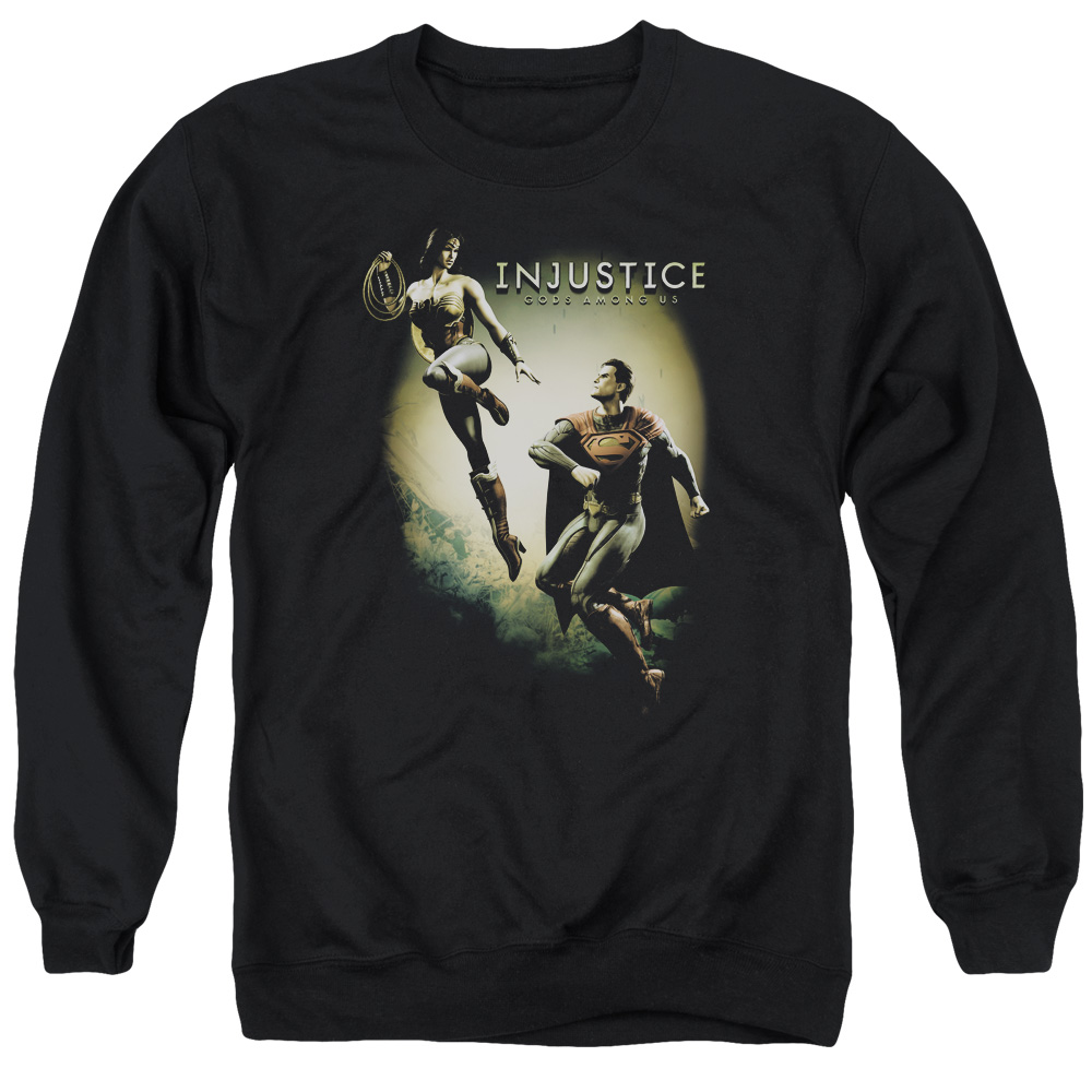 Injustice Gods Among Us Battle Of The Gods Mens Crewneck Sweatshirt