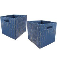 "Better Homes and Gardens Fabric Cube Storage Bins (12.75"" x 12.75""), Set of 2, Multiple Colors"
