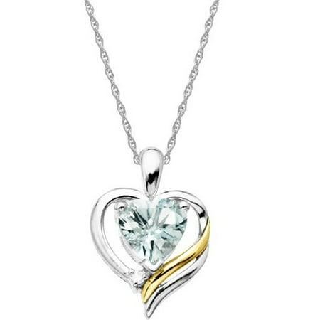 a8d7552284585 Duet Aquamarine And Diamond Accent Heart