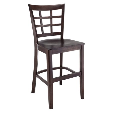 Lattice Counter Stool in Walnut with Wood Seat - image 1 of 1