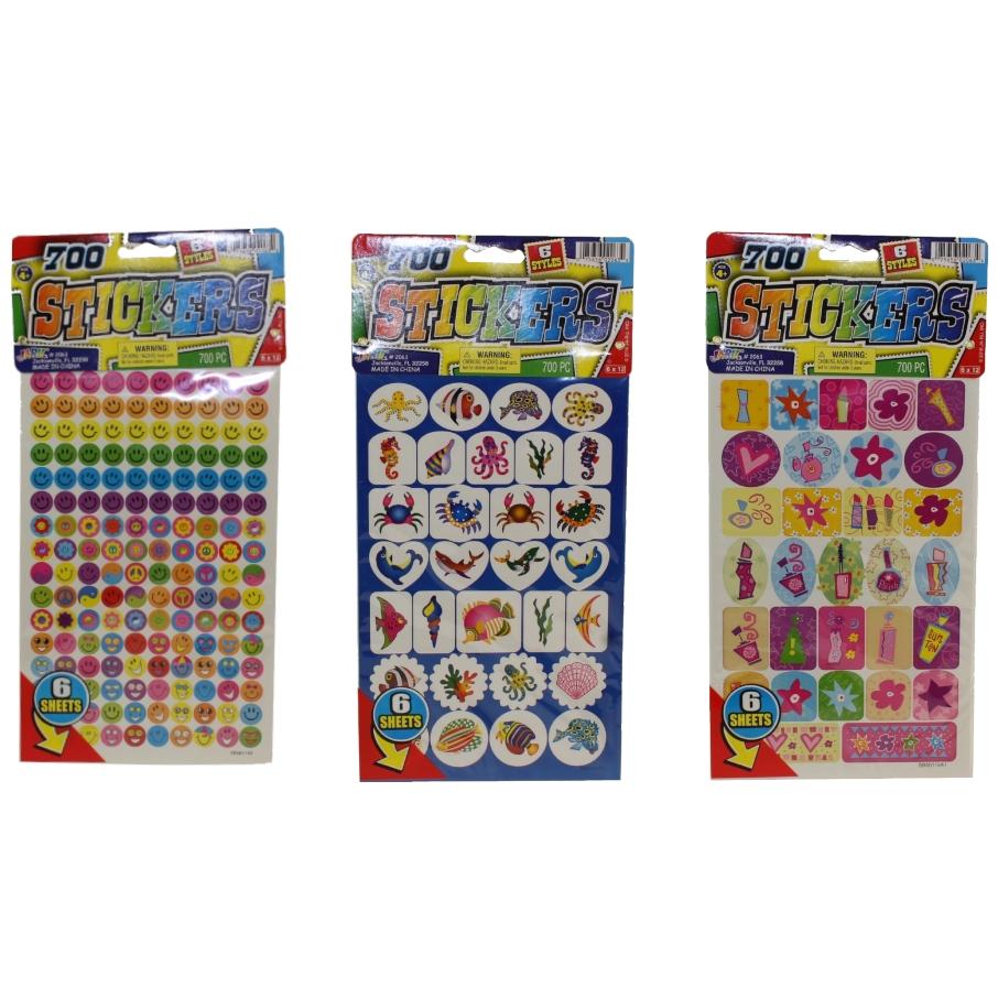 1 Sheet Foil Stickers with Wiggly Eyes JA-RU Inc #2069 Toys TROPI-KOOL