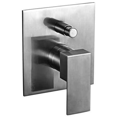 ALFI brand AB6801-BN Brushed Nickel Modern Square Pressure Balanced Shower Mixer with Diverter