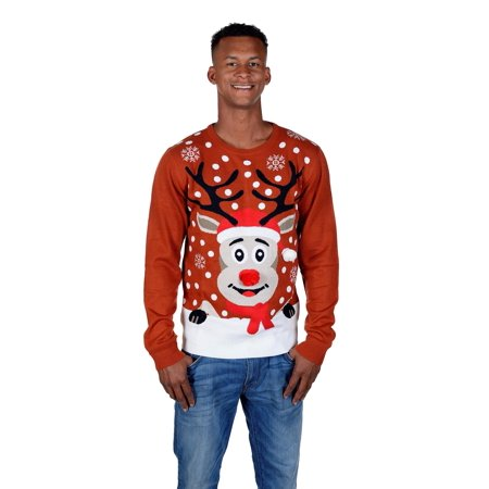 RWB Rudolph The Reindeer Ugly Christmas Sweater Burgundy](The Ugly Sweater)