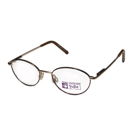 bb5928fd82 New Hush Puppies 528 Unisex Boys Girls Kids Designer Full-Rim Gold   Havana Stylish  Elegant Kids Size Frame Demo Lenses 42-16-120 Eyeglasses Eye Glasses ...