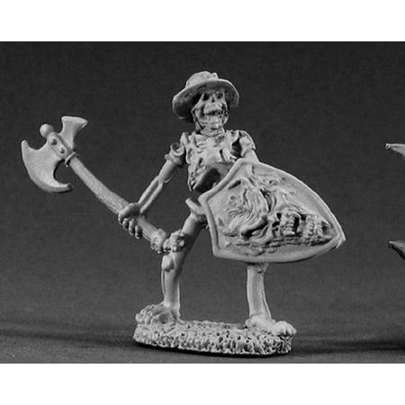 Reaper Miniatures Skeleton With Axe #02128 Dark Heaven Legends Unpainted Metal