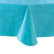 """Mainstays Linen Print Vinyl Tablecloth, Teal, 60""""x84"""""""