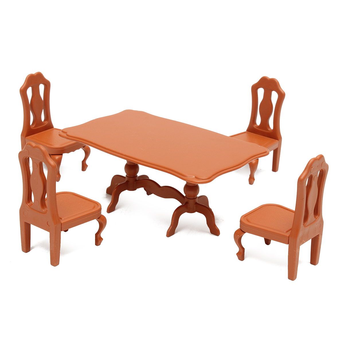 Table Plastic Miniature Doll House Dollhouse Furniture Set Living Room Kitchen Decoration