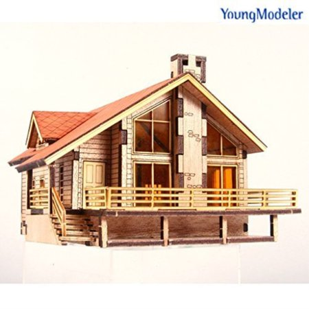 Young Modeler Desktop Wooden Model Kit Garden House A with a Large Deck by YOUNGMODELER (Dicke Mode)