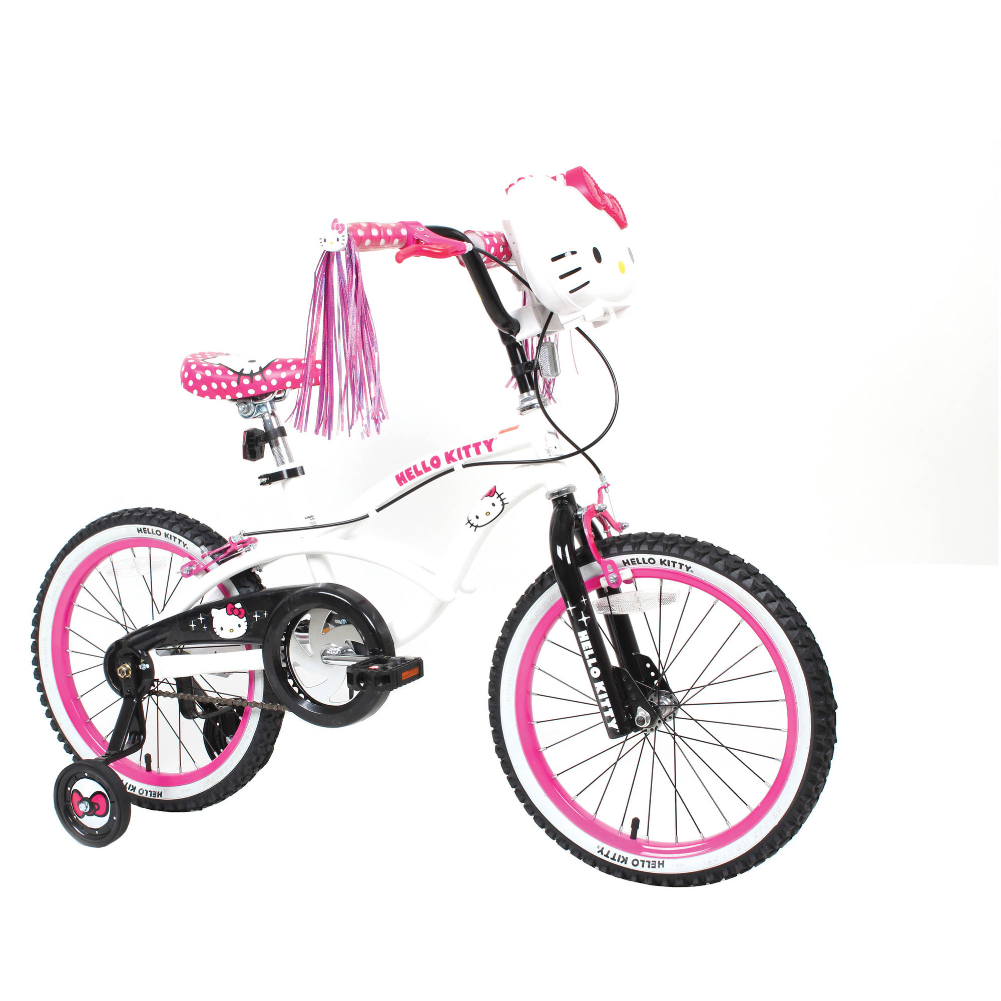 "18"" Hello Kitty Girls' Sidewalk Bike, White"