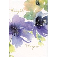 Pictura Purple and Peach Watercolor Floral Sympathy Card