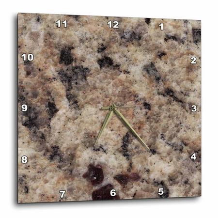 3dRose Napoli Venetian Gold granite print, Wall Clock, 15 by 15-inch
