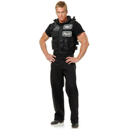 Team Usa Halloween Costumes (SWAT Team Vest Men's Adult Halloween Costume,)