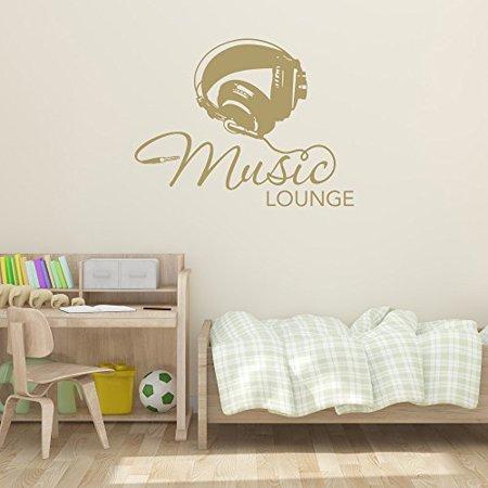 Music Lounge Wall Decal Music Wall Sticker Musical Vinyl Wall Art Home
