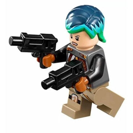 LEGO STAR WARS REBELS MINIFIGURE SABINE WREN WITH DUAL BLASTER GUNS 75150 (Lego Building Gun)